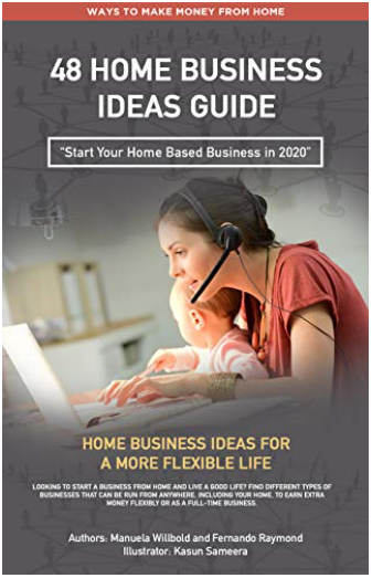 Kindle Book cover for home business ideas guide