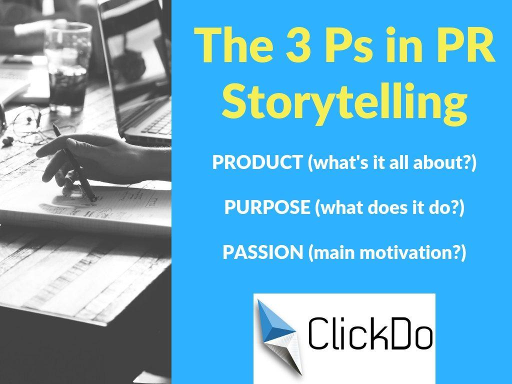 3 Ps in PR storytelling