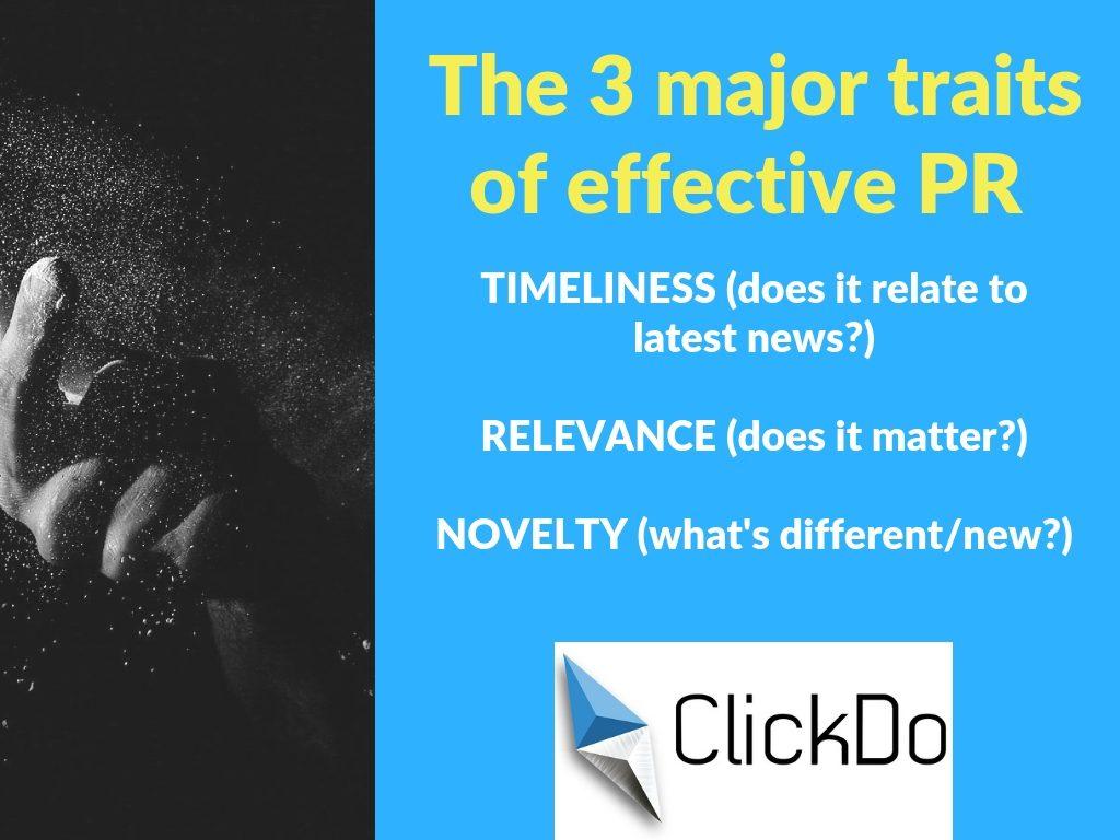 3 major traits of effective PR