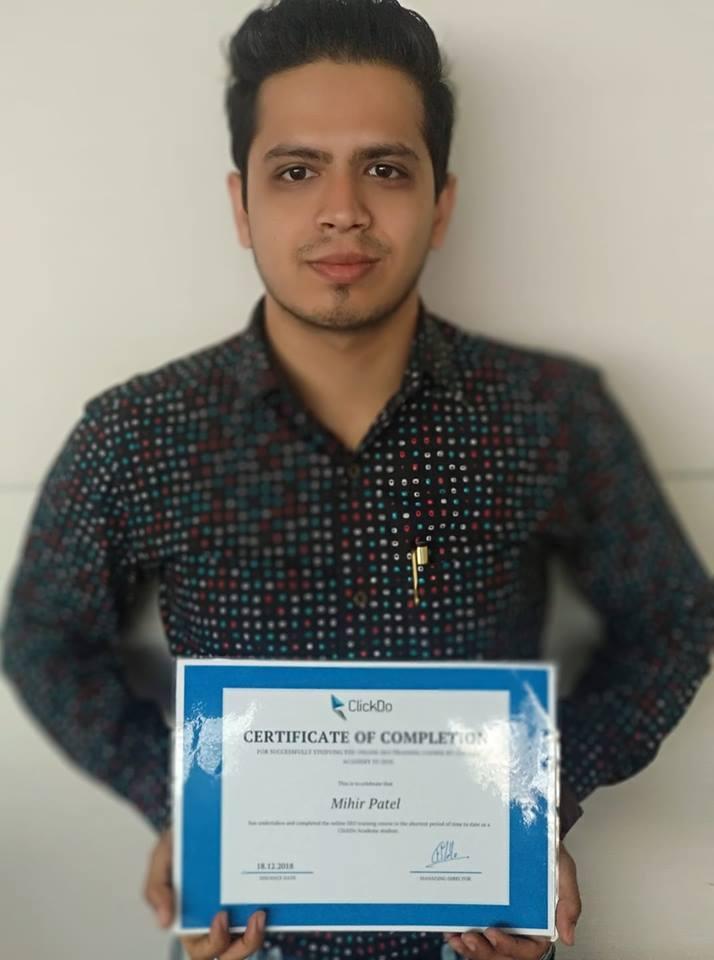 Mihir Patel – Certified SEO Expert