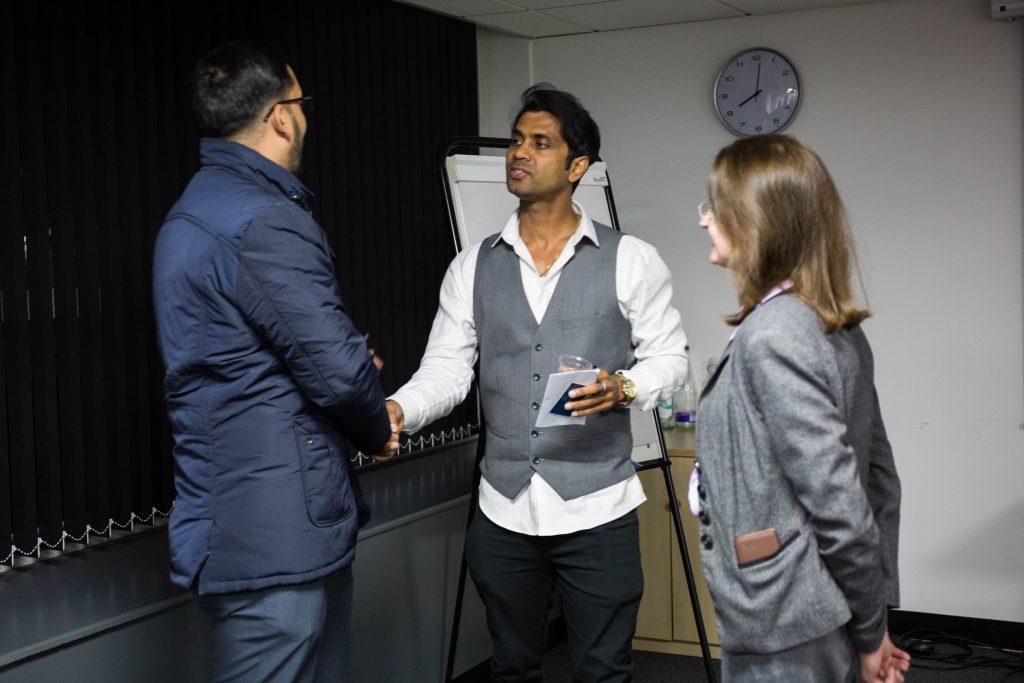 ClickDo CEO Fernando meets HSCB Portfolio Mangement Associate Baljit Singh Dhingra