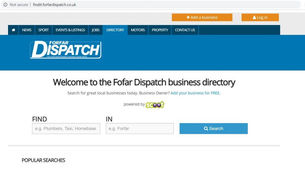 forfar dispatch