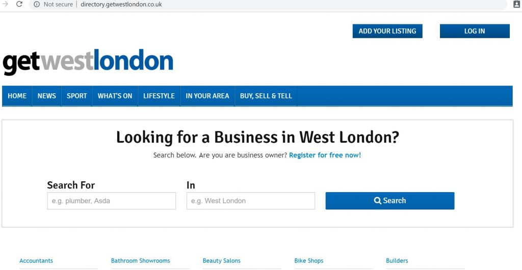 get west london directory