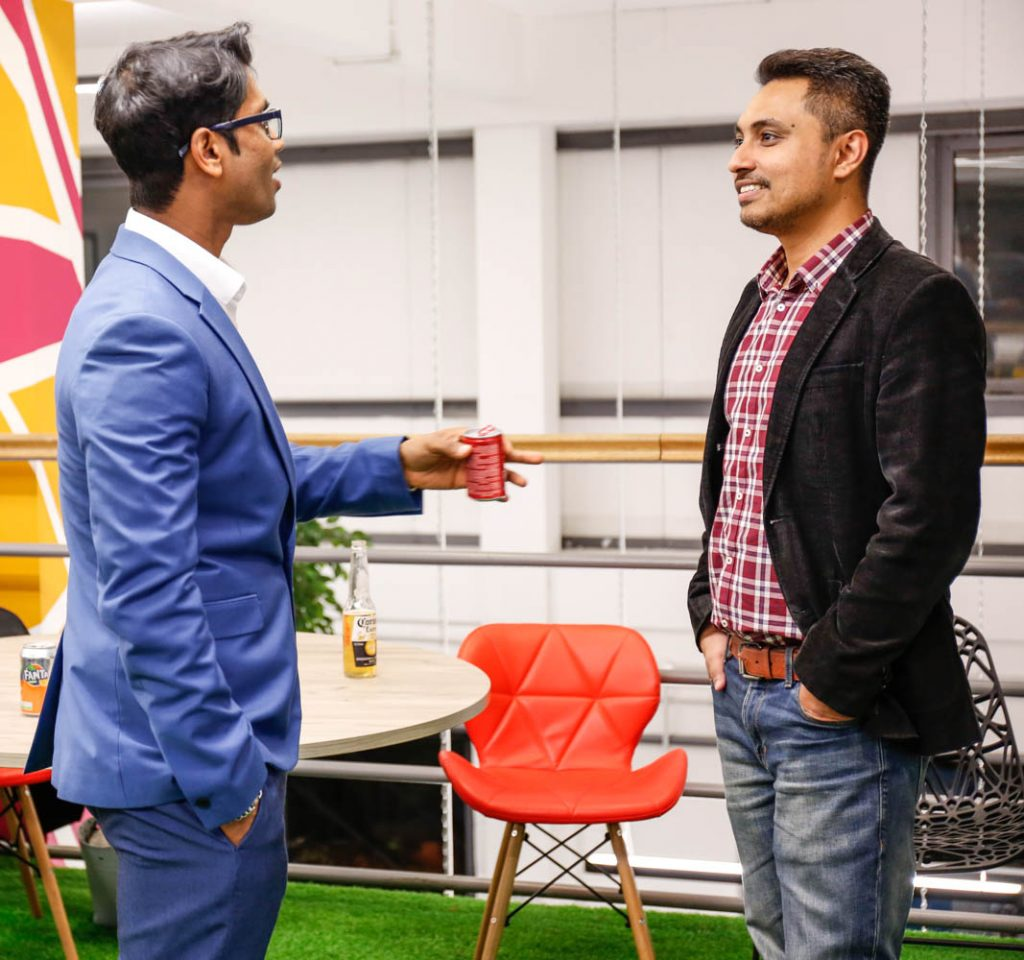 Fernando and Anik Sumon at Passion Digtal Agency In London