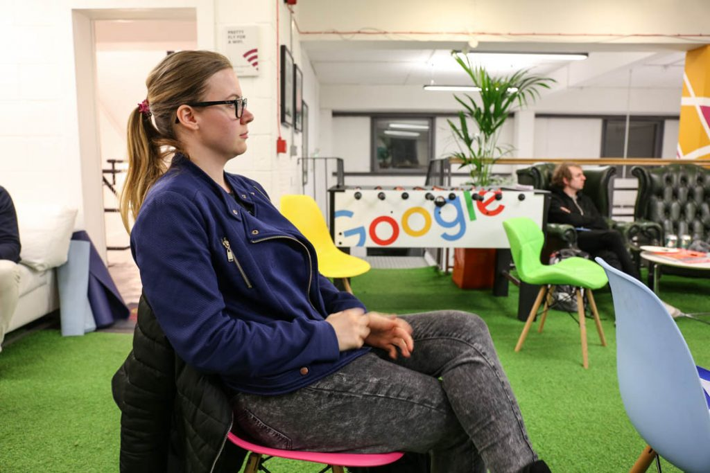 nicole venglovicova at the Passion Digital agency in London during the SEMRush Meeup