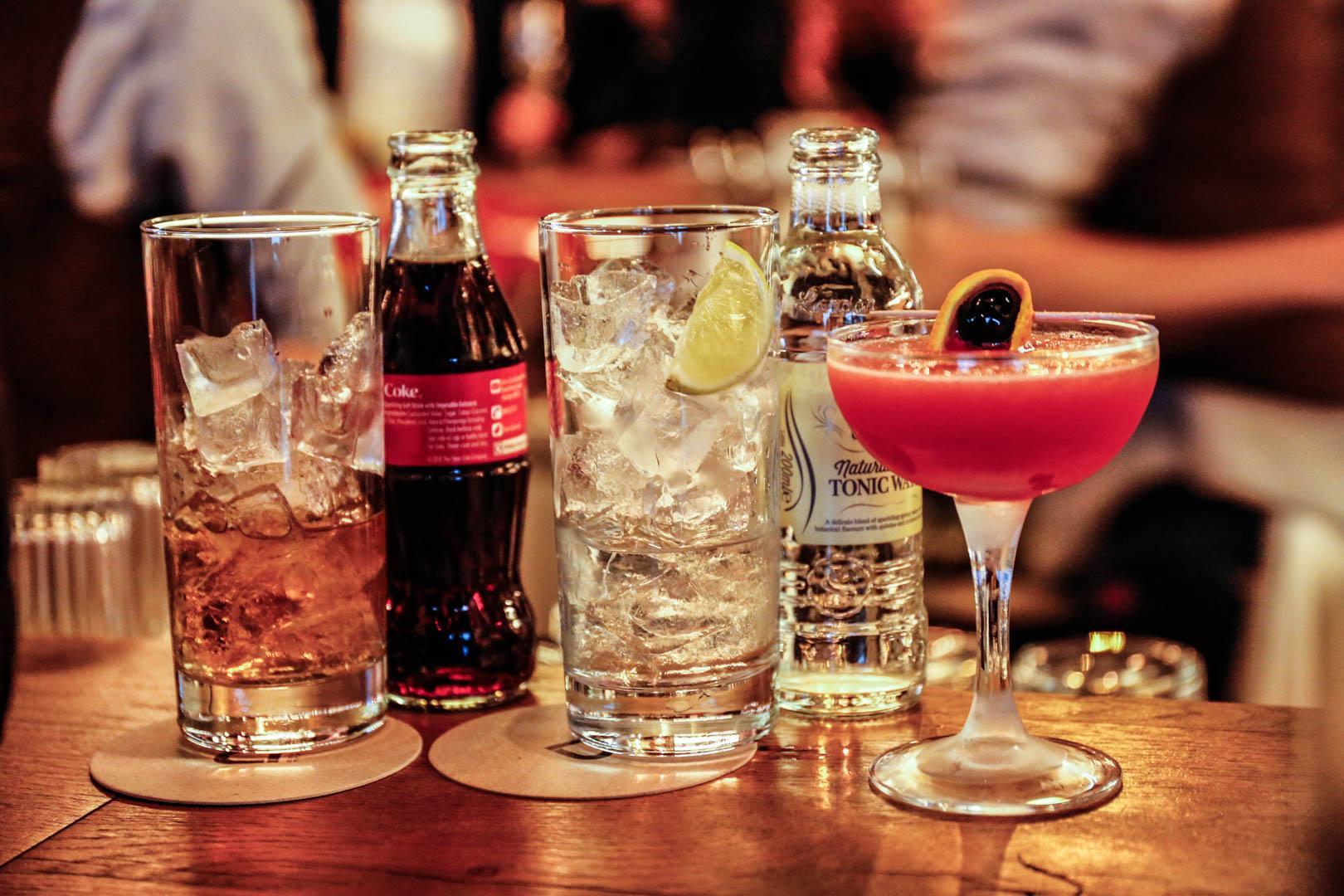 drinks at Bokan Canary Wharf, London