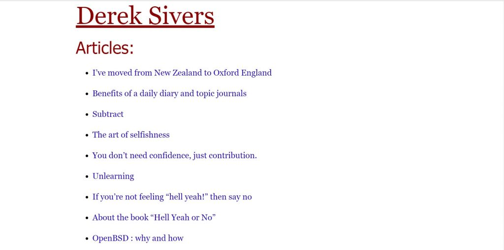 derek sivers blog