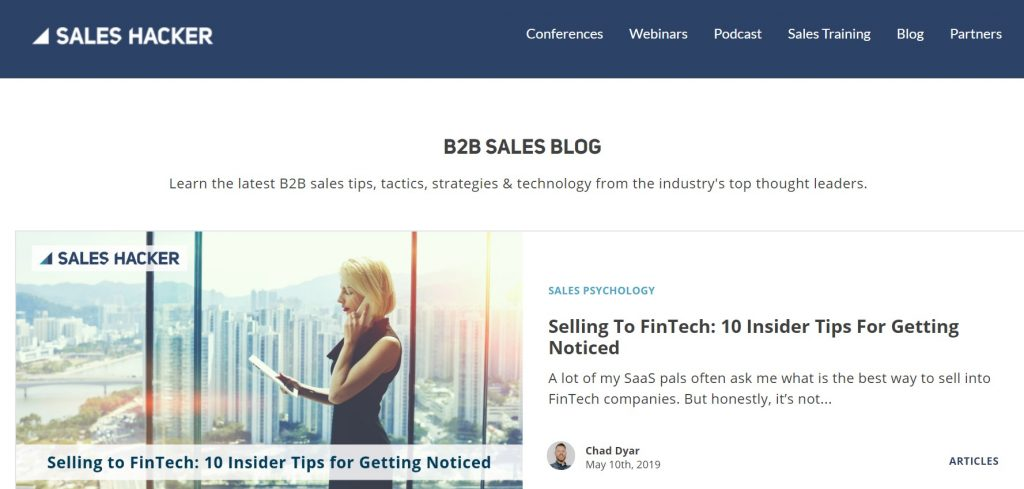 sales hacker blog