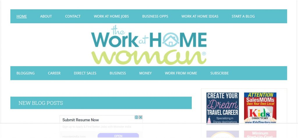 work at home woman