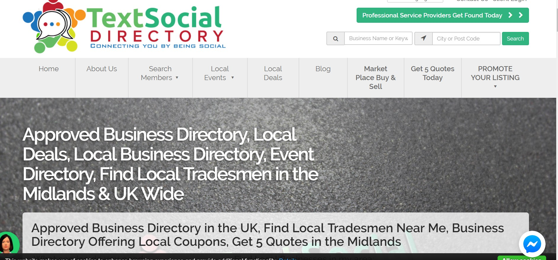 text social directory