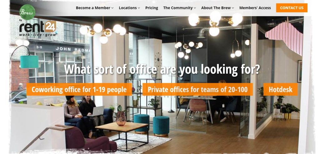 Brew Coworking space in London