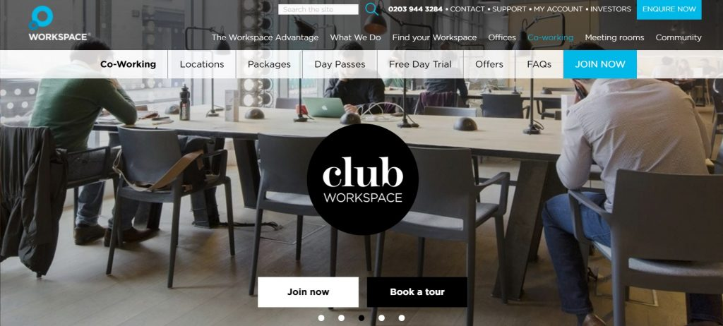 club workspace for coworking in london