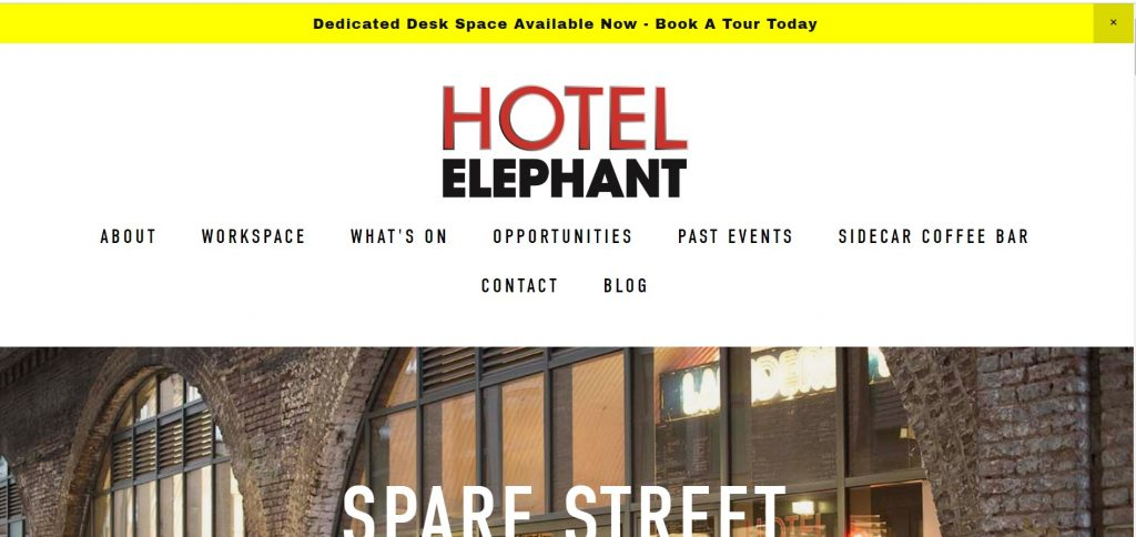 coworking space by hotel elephant