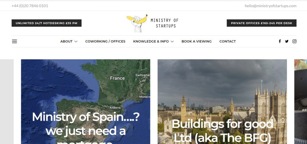 coworking space by ministry of startups