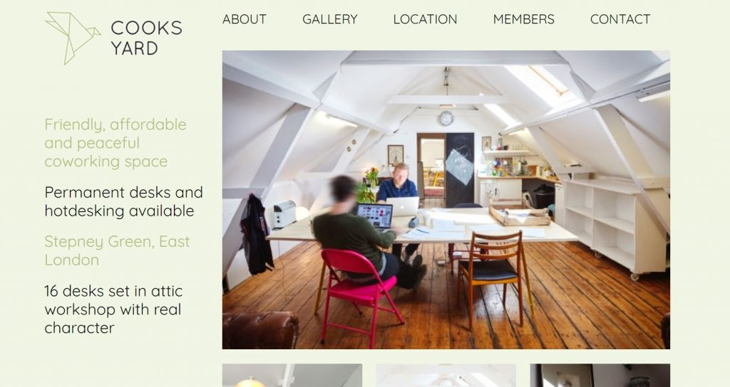 coworking space in london by cooks yard