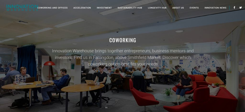 innovation warehouse coworking space