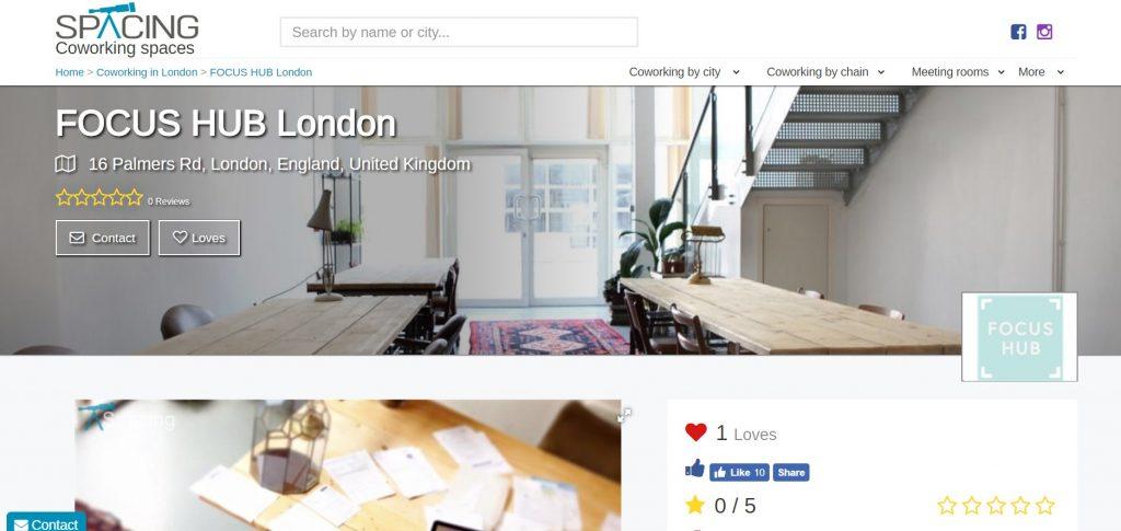spacing coworking space london