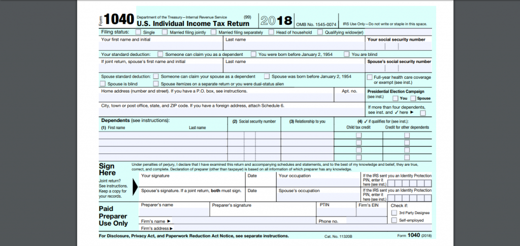 all you need to know about us tax return