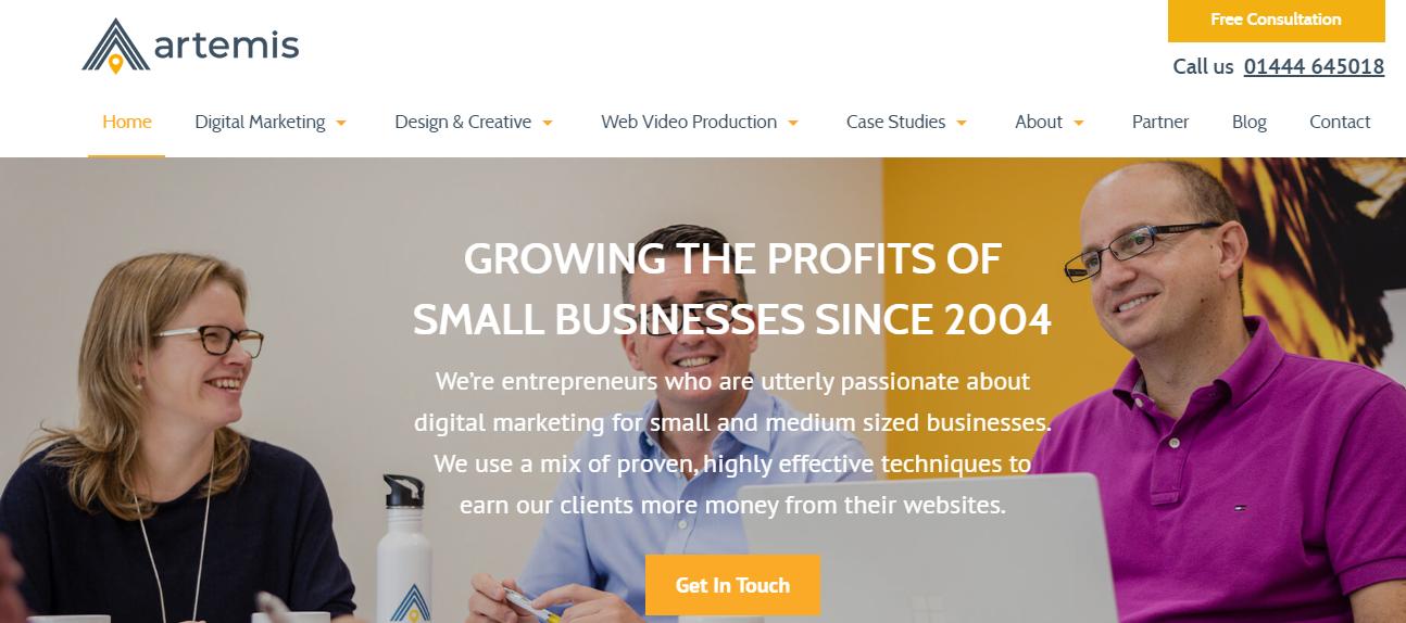 Artemis marketing Seo Agency