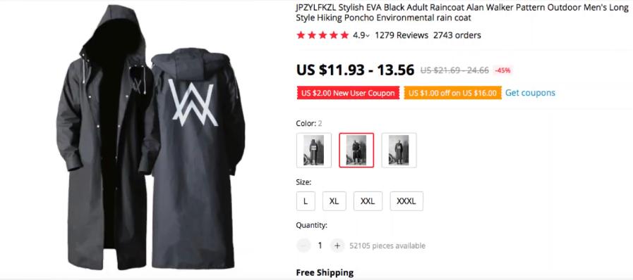 Black Rain Coat