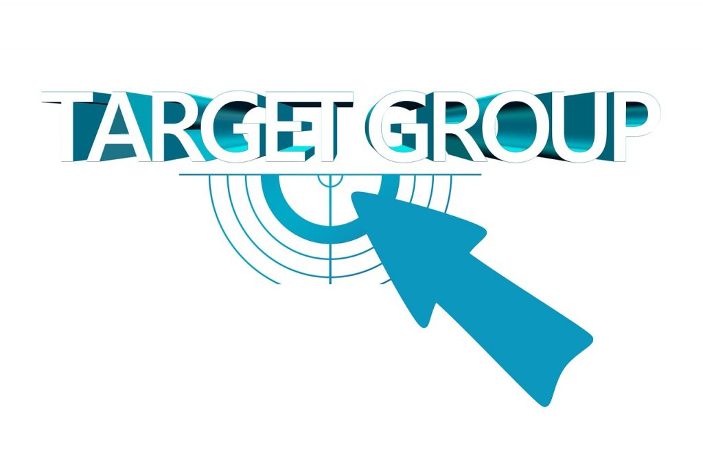 Business customer target group for marketing