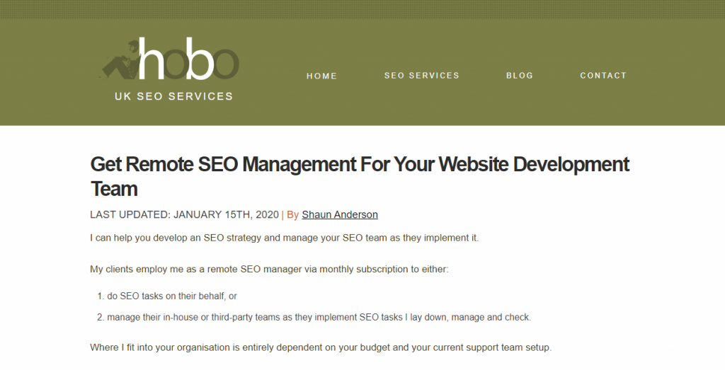 Hobo Web Seo Agency