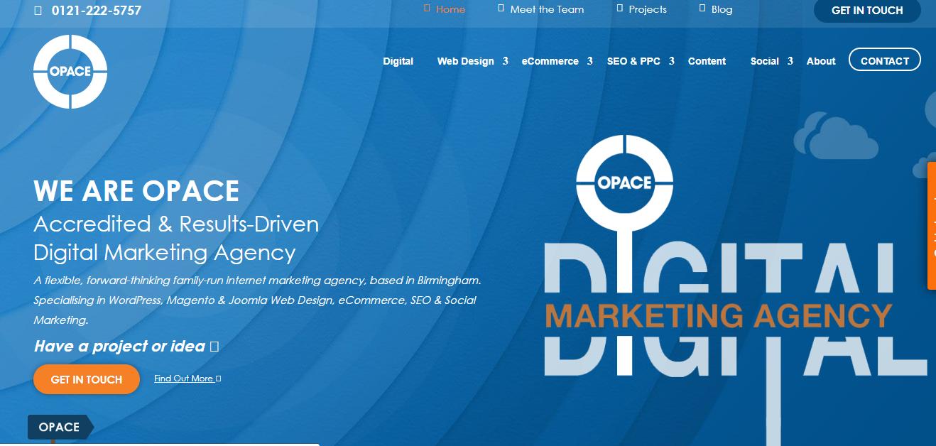 Opace Web design Seo Agency