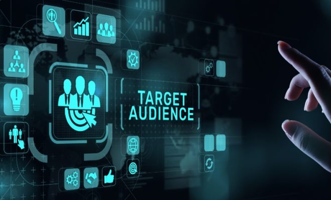 Target audience customer segmentation marketing strategy concept on virtual screen.