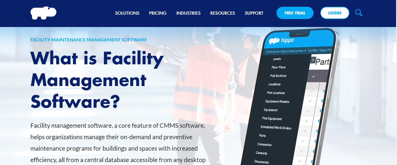 Hippo CMMS Facilities Software Management