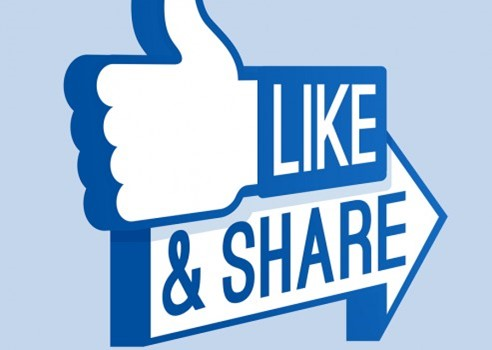 Improve brand exposure through social media shares and likes