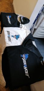 Seekahost logo and merchandise for marketing