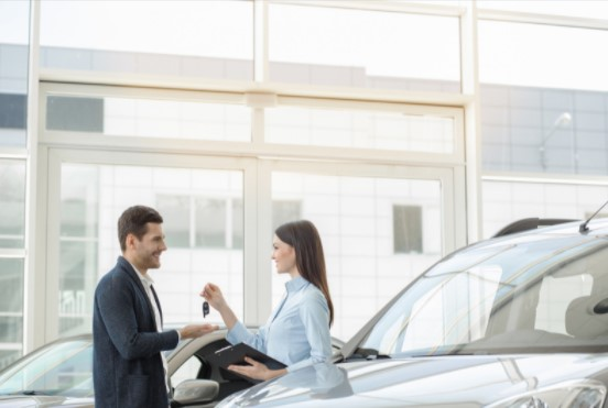 renting a luxury car for business trip