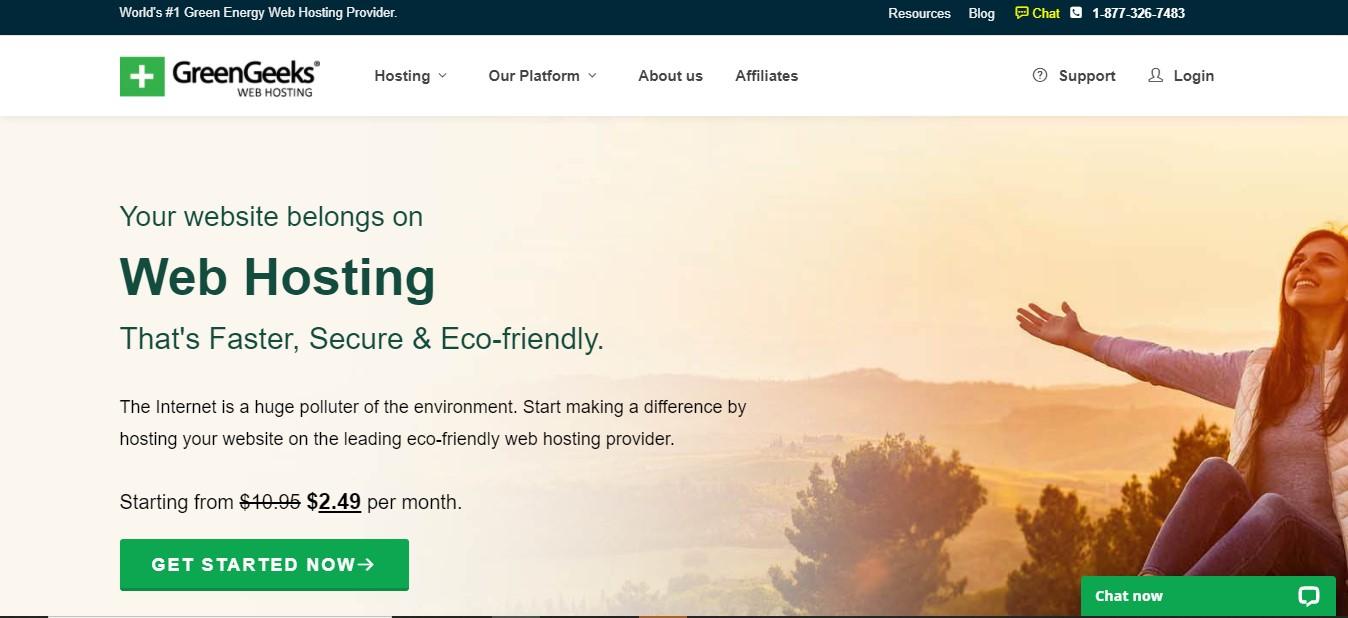 GreenGeeks UK blog hosting