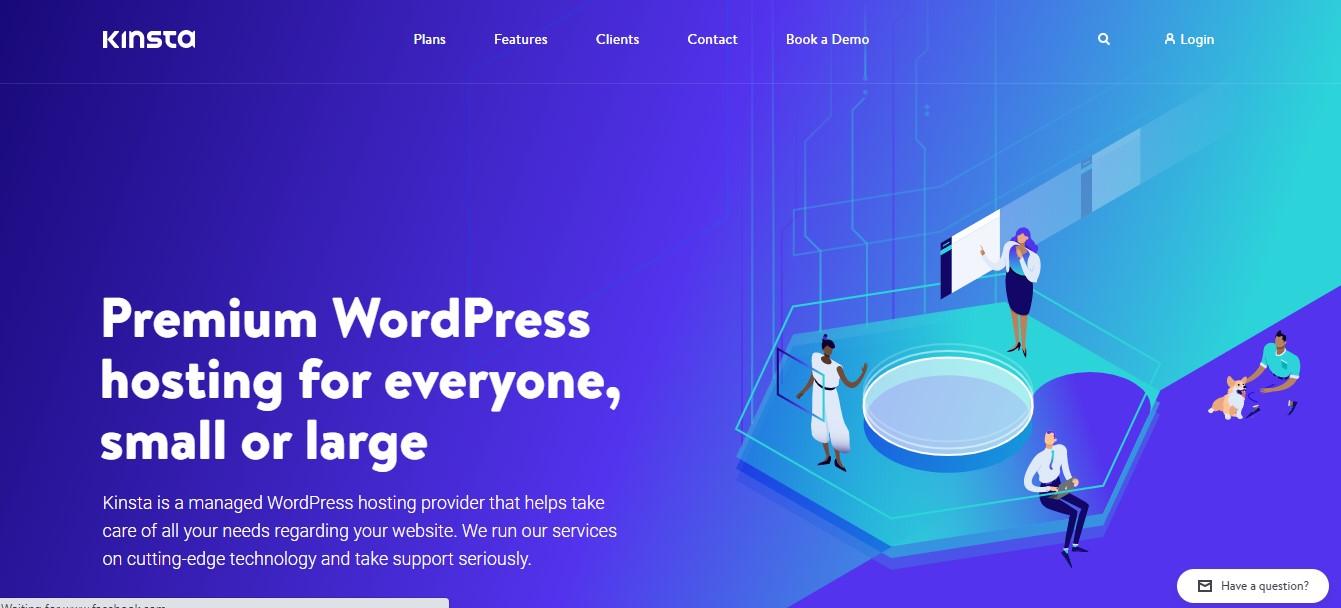 kinsta UK blog hosting