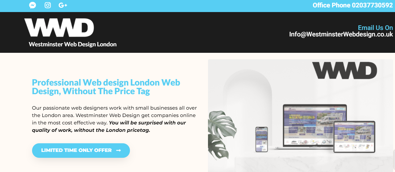 Westminster Web Design London